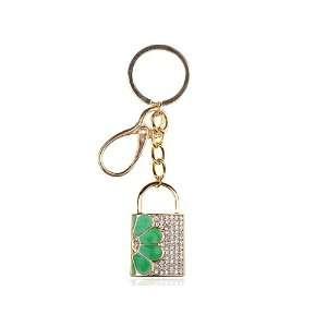 Lock Daisy Ice Swarovski Crystal Rhinestone Keychain Memory Stick USB