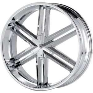 Von Max VM3 24x9.5 Chrome Wheel / Rim 5x4.5 & 5x4.75 with a 18mm