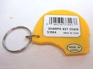 Lot 6 Plastic Cutter Knife Opener Key Ring Keyrings New