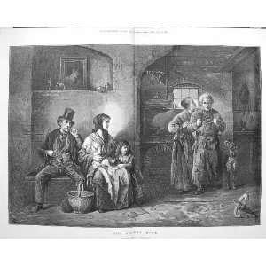 1875 Return Home Family Scene Blacksmith Freidlander