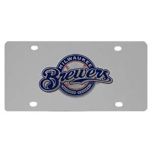Milwaukee Brewers MLB License/Logo Plate Sports