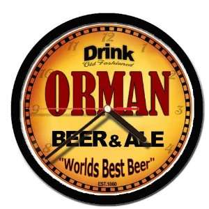 ORMAN beer and ale cerveza wall clock