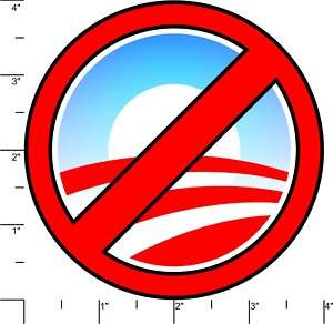 NO OBAMA  Anti Obama Logo Parody Bumper Sticker Decal