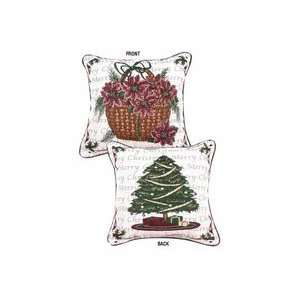 Traditions of Christmas (Tree / Basket) 17 x 17 Holiday Pillow From
