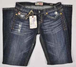 MEK Oaxaca Womens Bootcut Designer Jeans Dark Blue size 30x34