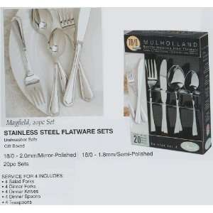 20pc Gibson Mayfield 18/0 Stainless Steel Fork Spoon Knife