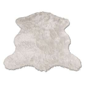 Polar Bear Pelt  Bear Collection  Faux Fur Rug  2 foot