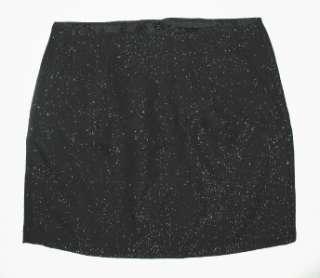 NWT Black GAP Sparkle Tweed Holiday Mini Skirt 10