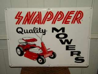 Lawn Mower Farm Tractor Tin Sign Original COMET Cool 1969