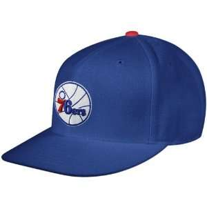 Mitchell & Ness Philadelphia 76ers Royal Blue Team Logo Fitted Hat (6