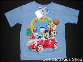 DISNEY Boys 2T 3T 4T Short Sleeve SHIRT Top MICKEY MOUSE Goofy Donald