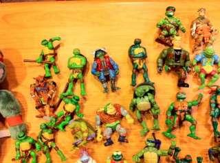 Teenage Mutant Ninja Turtles TMNT 88 figures 5 vehicles weapons,part