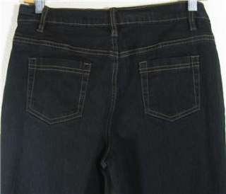 DG2 Diane Gilman Stretch Denim Boot Cut Jeans Sz 14P Blk Boot Cut NEW