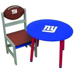 NFL New York Giants Childrens Wooden Team Table
