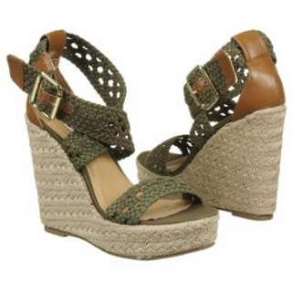 NEW Steve Madden Womens Magestee Khaki FAB Wedge Heel Sandals US Sizes