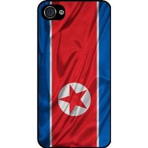 Rikki KnightTM North Korea Flag Black Hard Case Cover for