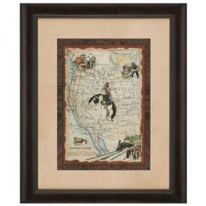 Western States Map Framed Art: Office Products