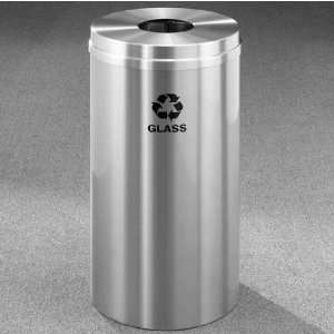 Bottles & Cans Receptacle, 33 Gal, 20 inch Dia x 35 inch H, Glass
