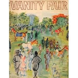 1934 Cover Vanity Fair Raoul Dufy Horse Race Jockey
