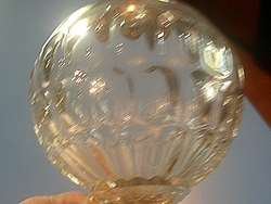 great old flint glass oil lamp with number one top