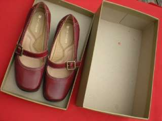 Naturalizer DARK RED MARY JANE Leather Slippers LOW Heels Shoes 6M