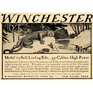 Model 07 .35 Caliber Rifle Bobcat   Original Print Ad Home & Kitchen
