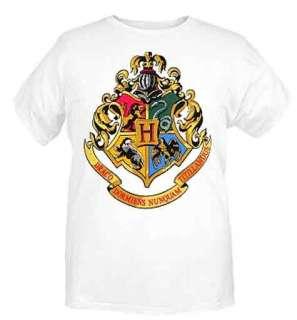 Harry Potter Hogwarts Crest Gryffindor Lion T Shirt NWT