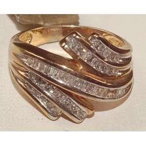 10k Yellow Gold Engagement Diamond Ring Brand New Jewelry
