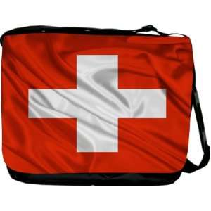 Rikki KnightTM Switzerland Flag Messenger Bag   Book Bag