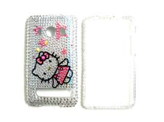 Hello kitty hard Rhinestone Bling Case cover HTC Evo 4G