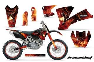 KTM 03 04 EXC XC 01 02 SX 125/250/450/525/520 GRAPHICS KIT DECALS
