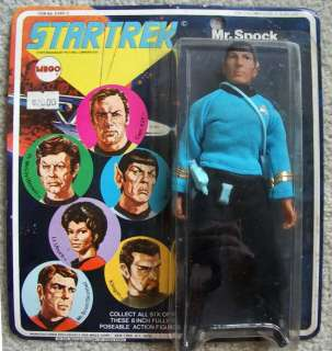 STAR TREK Mr. Spock MEGO 8 Action Figure 1974 MOC