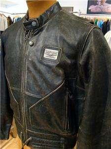 Harley Davidson Leather Jacket Distressed Brown Medium