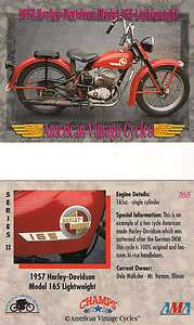 1957 Harley Davidson Model 165 Lightweight Motorcycle Eng.165 cc