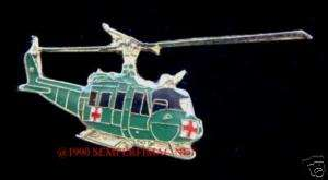 UH 1 HUEY MEDIVAC DUST OFF HAT PIN US ARMY HELICOPTER