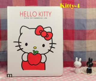 LEATHER CUTE CASE COVER HEllO KITTY STAND FOR I PAD 2