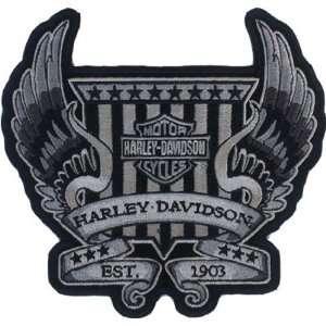 Harley Davidson Winged Crest Patch (Medium) Automotive