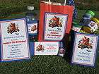 Super Mario Brothers Birthday Party PDF CD w/ Invitation Favor Water