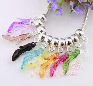 Lot 200 pcs Mix Color Plastic High heel shoes Beads 1