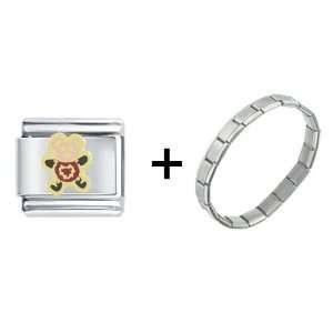 Cute Teddy Bear Heart Italian Charm Bracelet Pugster