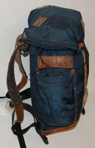 VINTAGE 1970S HINE SNOWBRIDGE CANVAS LEATHER DAY PACK BACKPACK alpine