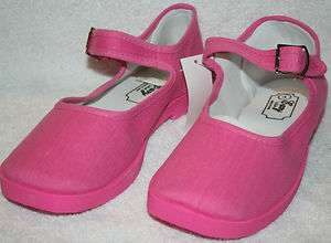 Easy Mary Jane Girl Shoes/ Fuchsia