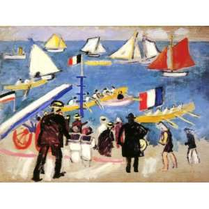 inch Raoul Dufy Abstract Canvas Art Repro Boat Racing