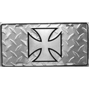 MALTESE CROSS, WEST COAST CHOPPERS LICENSE PLATE plates tag tags auto