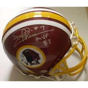 Signed Joe Theismann Mini Helmet   Replica   Autographed NFL Mini