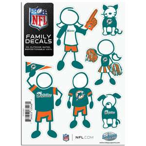 Miami Dolphins Family Decals Set of 6