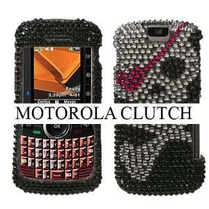 MOTOROLA CLUTCH i465 SKULL HEART PATCH DESIGN FULL DIAMOND