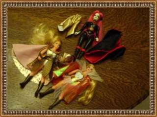 VINTAGE PRINCESS OF POWER ACTION FIGURE DOLL LOT W/SNAKE LADY SHE RA