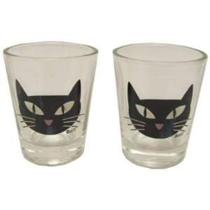 Hipsters Choice Cat Shot Glasses   Set of Two Case Pack