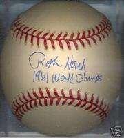 Ralph Houk 1961 New York Yankees Autographed Baseball